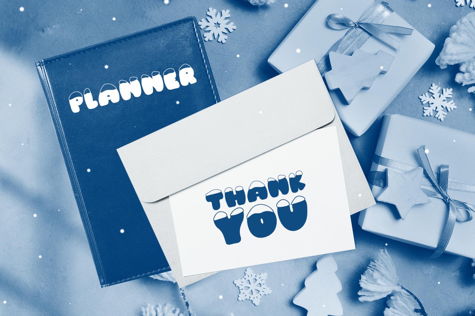 Frosty Joy Hand Drawn Display Font