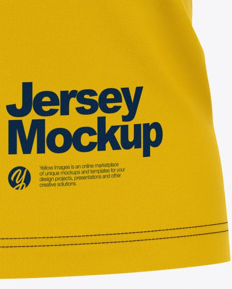 Men's Raglan Soccer V-Neck Jersey - Front View