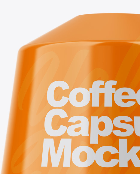 Glossy Coffee Capsule Mockup