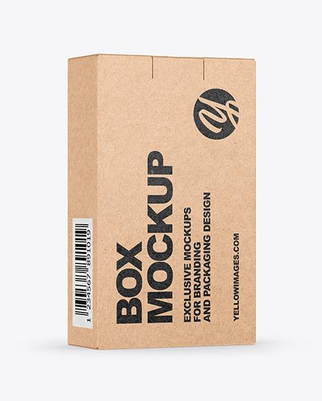 Download Kraft Box Mockup In Box Mockups On Yellow Images Object Mockups Yellowimages Mockups
