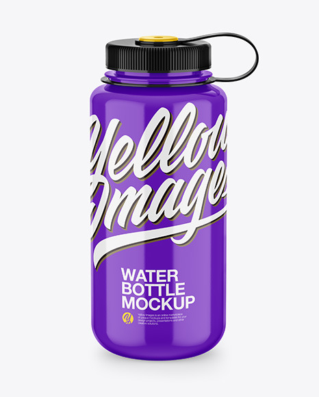 Glossy Water Bottle Mockup