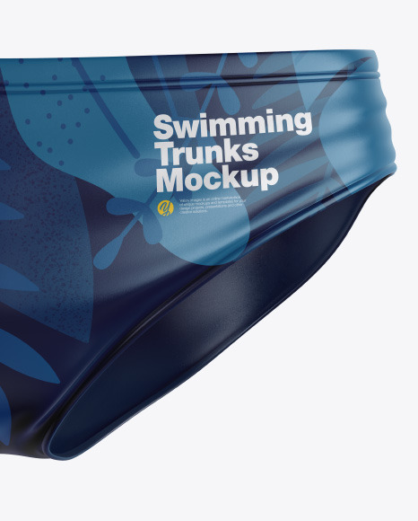 Glossy Swimming Trunks Mockup
