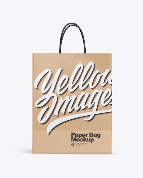 Kraft Shopping Bag w/ Rope Handles Mockup