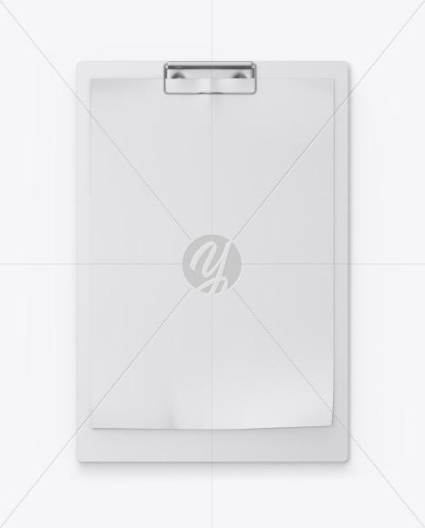 Plastic Clipboard w/ Paper Mockup