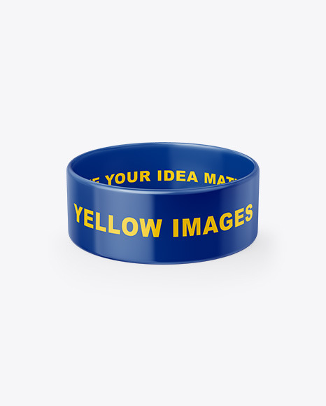 Download 1 Inch Glossy Wristband Mockup Yellowimages