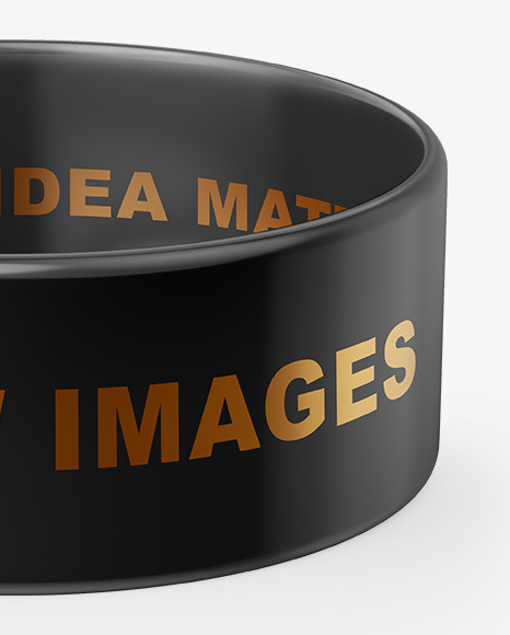 1 Inch Glossy Wristband Mockup In Apparel Mockups On Yellow Images
