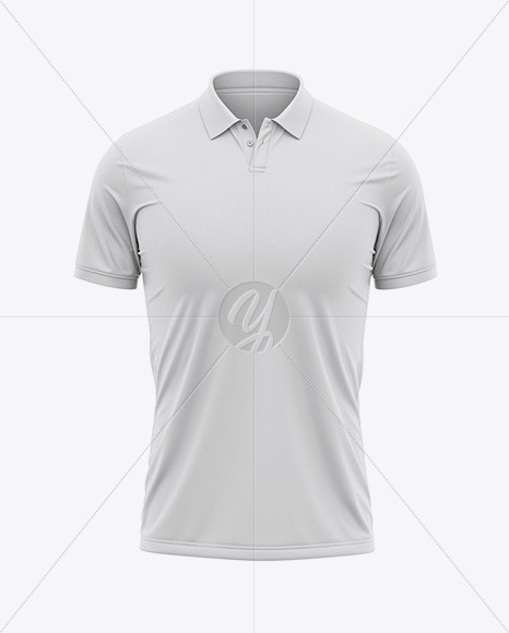 Men's Short Sleeve Polo Shirt - Front View
