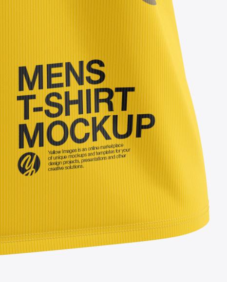 Men's Loose Fit V-Neck T-Shirt Mockup