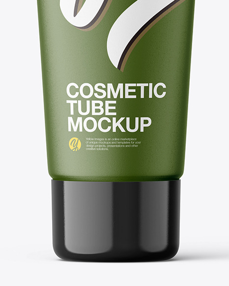 Matte Cosmetic Tube with Rounded Seal Mockup