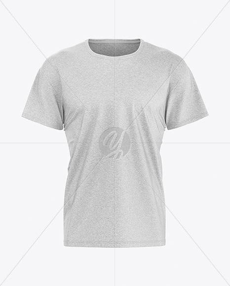 Download Melange Men S T Shirt Mockup In Apparel Mockups On Yellow Images Object Mockups Yellowimages Mockups