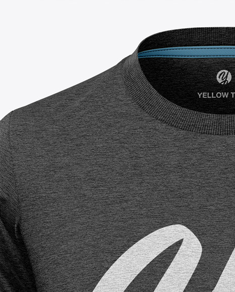 Men's Heather Loose-Fit T-shirt Mockup - Front View