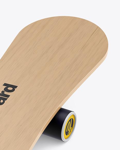 Wooden Balance Board Mockup