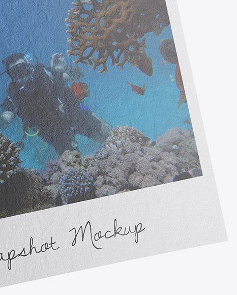 Paper Snapshot w/ Pin Mockup