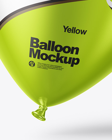 Metallic Balloon Mockup