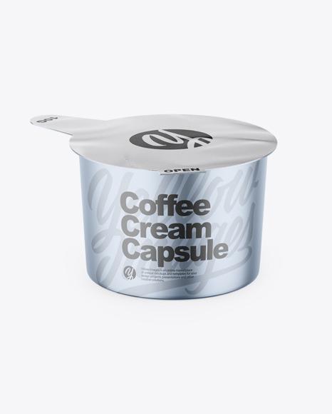 Matte Metallic Coffee Creamer Mockup