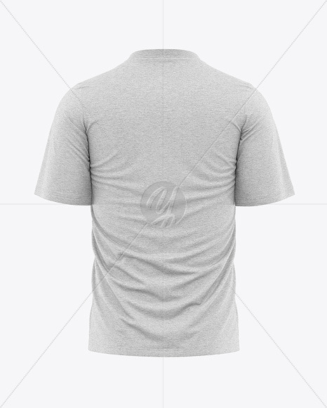 Men's Heather Loose-Fit T-shirt Mockup - Back View