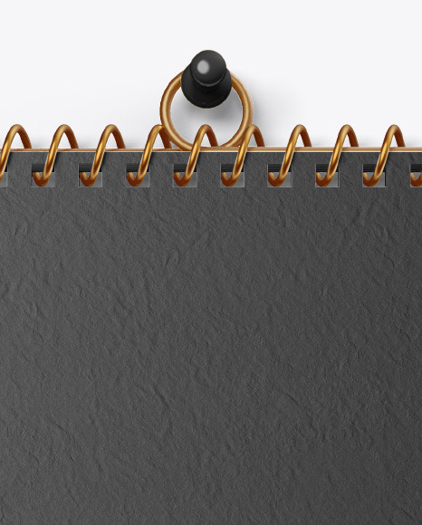 Textured Wall Calendar w/ Pin Mockup