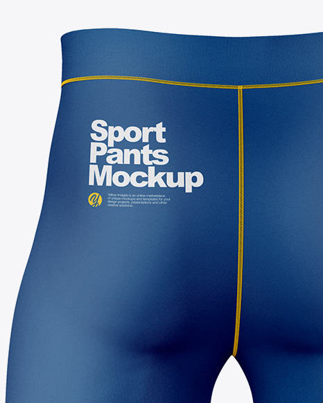 Compression Trousers Mockup – Back View