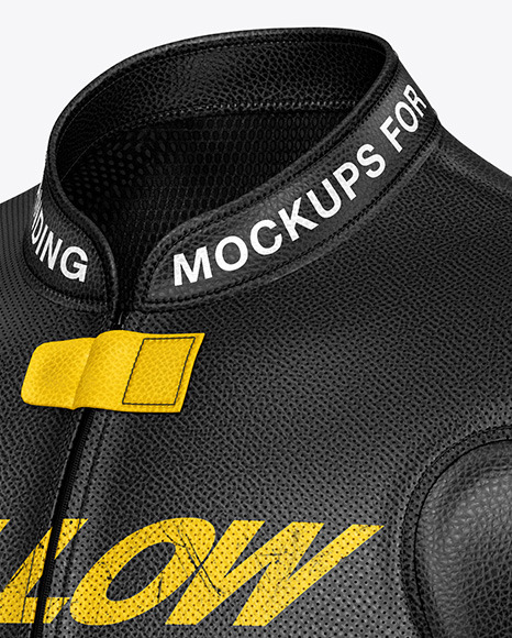 Motorcycle Racing Leather Jacket Mockup