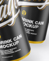 Two Matte Cans Mockup