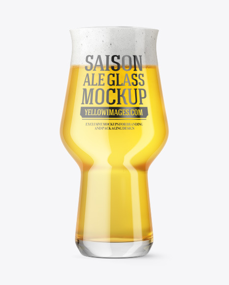 Craft Master Glass with Saison Ale Mockup