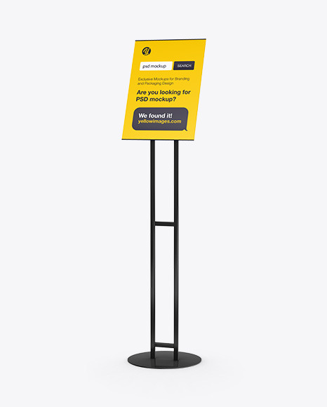 Poster Stand Mockup
