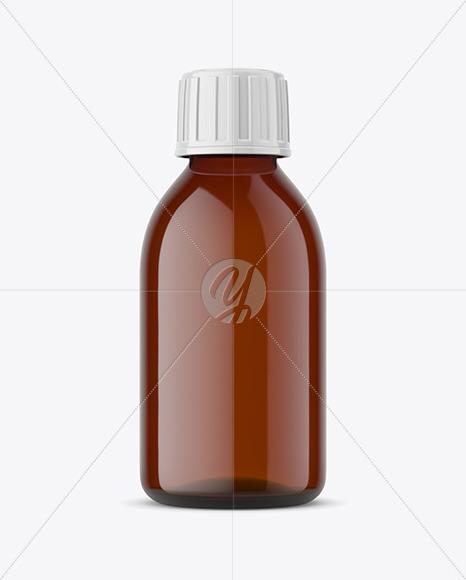 Pharmacy Glass Bottle Mockup
