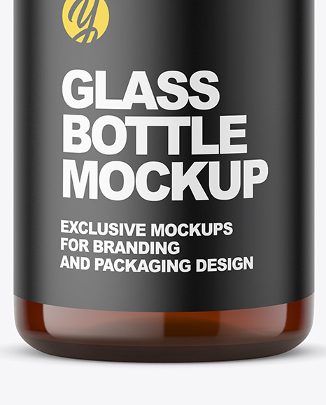 Pharmacy Glass Bottle Mockup
