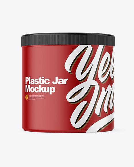 Download Plastic Jar PSD Mockup