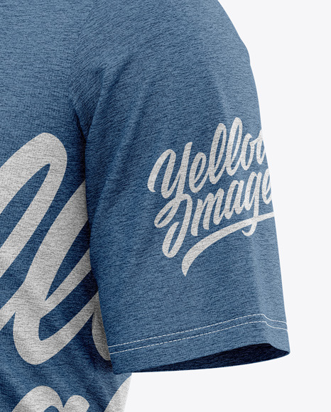 Men's Heather Loose-Fit T-shirt Mockup - Front Half-Side View