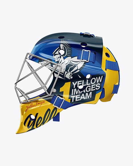 Hockey Goalkeeper Helmet Mookup