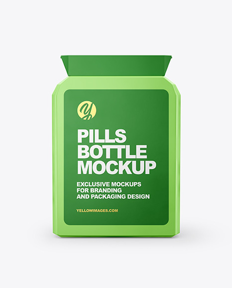 Download Flat Pills Bottle Mockup In Bottle Mockups On Yellow Images Object Mockups PSD Mockup Templates