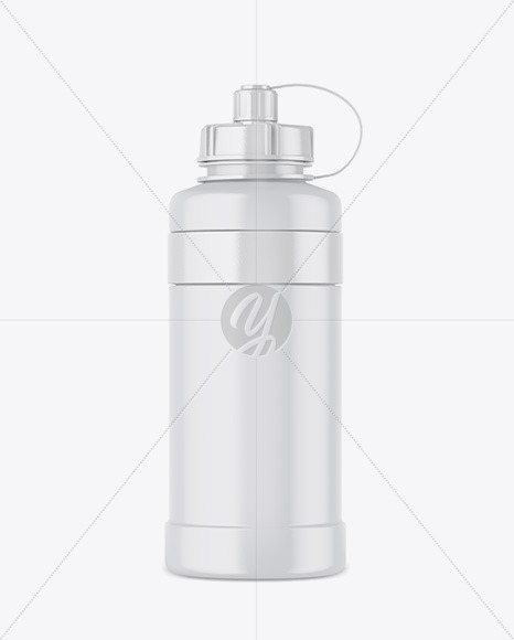 1000ml Matte Plastic Sport Bottle Mockup