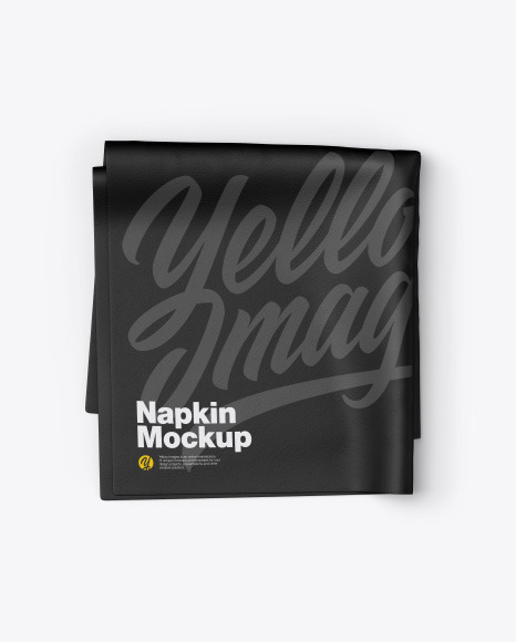 Napkin Mockup In Stationery Mockups On Yellow Images Object Mockups