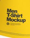 Compression T-Shirt Mockup – Back Half Side View