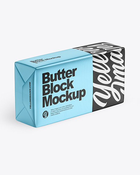 Matte Metallic Butter Block Mockup