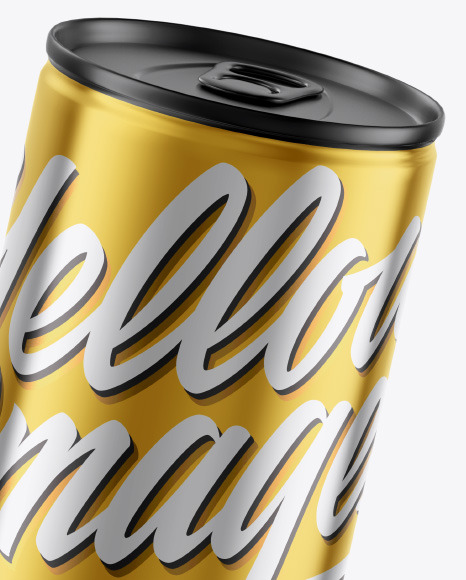 Glossy Metallic Can Mockup