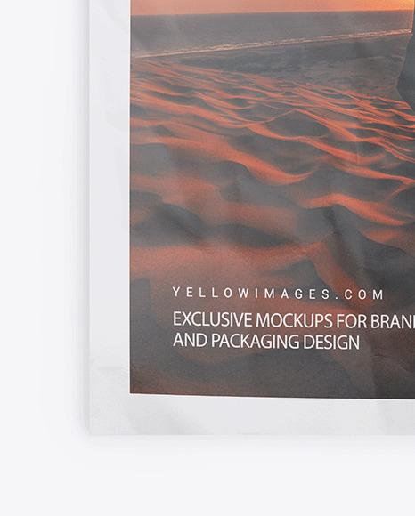 Crumpled Poster w/ Pins Mockup