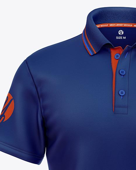 Men's Short Sleeve Polo Shirt Mockup