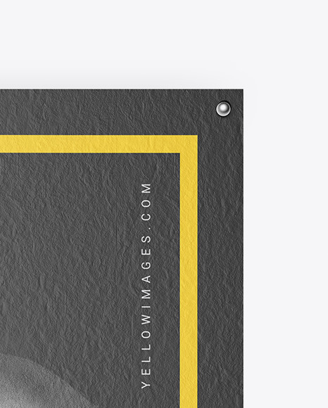 Download Textured Poster Mockup In Stationery Mockups On Yellow Images Object Mockups PSD Mockup Templates