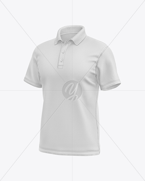 Men's Short Sleeve Polo Shirt Mockup