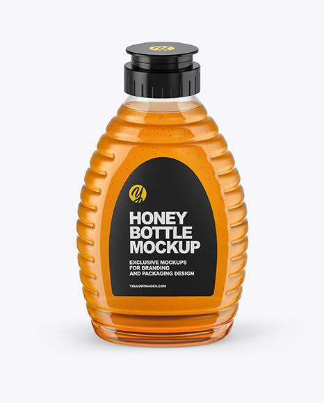 Clear Plastic Honey Bottle Mockup