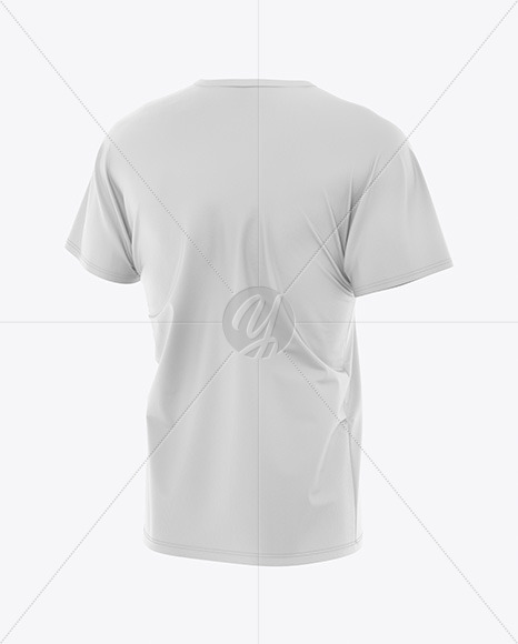 Download Mens Heather Loose Fit T Shirt Mockup Front View Of Melange Tee Yellowimages
