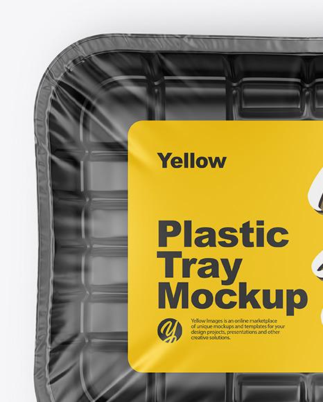 Plastic Tray Mockup