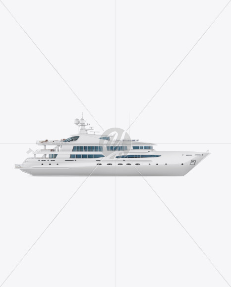 Yacht Mockup - Side View - Yellowimages Mockups