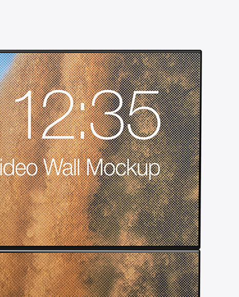 Portable Video Wall Mockup - Front View