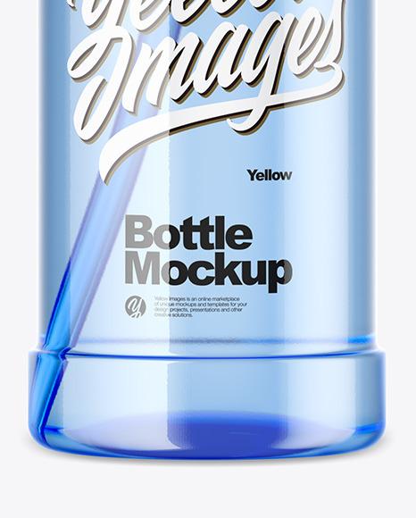 1000ml Blue Pet Sport Bottle Mockup