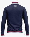 Men's Heather Quarter Zip Sweatshirt Mockup - Back View