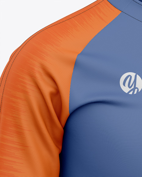 Men's Soccer Training Jersey - Front Half-Side View - Football Squad Drill Top