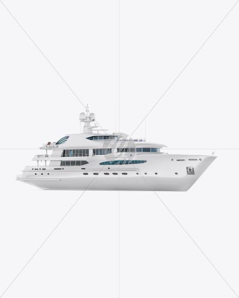 Yacht Mockup - Half Side View